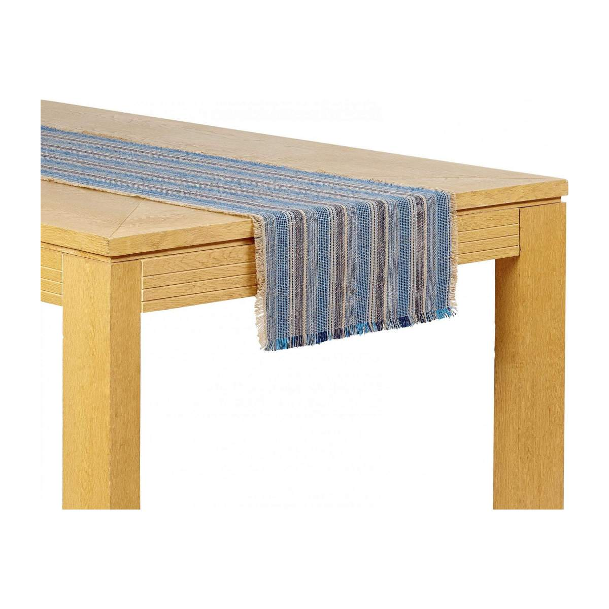Lot de 2 travers de table - 40 x 140 cm - Bleu n°1
