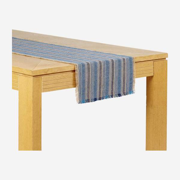 Lot de 2 travers de table - 40 x 140 cm - Bleu