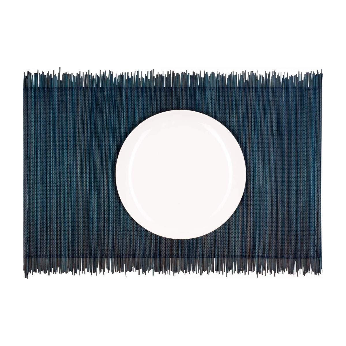 Lot de 4 sets de table en bambou - 30 x 45 cm - Bleu n°1