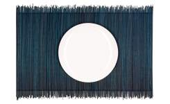 Lot de 4 sets de table en bambou - 30 x 45 cm - Bleu