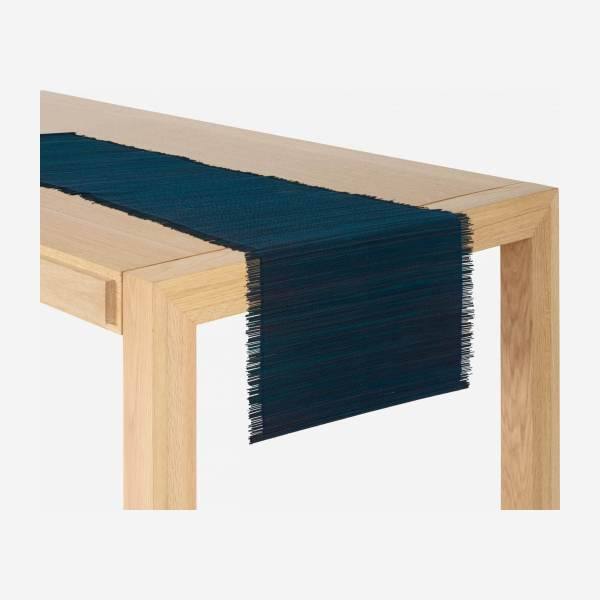 Travers de table en bambou - 40 x 150 cm - Bleu