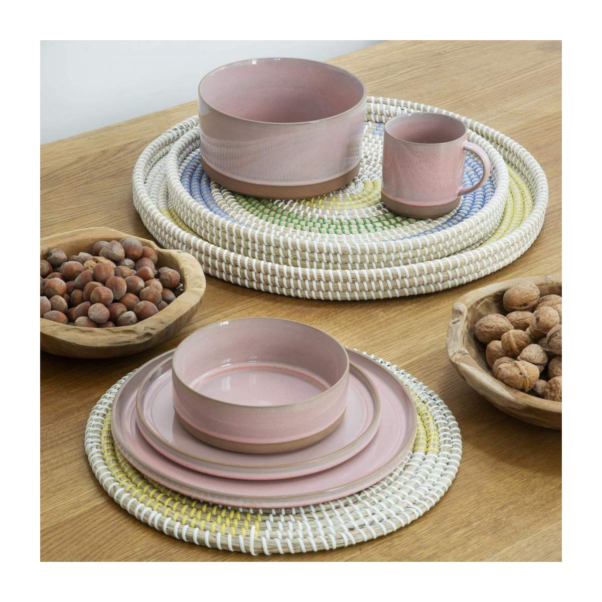 Set de table rond en jonc de mer - 35 cm n°2