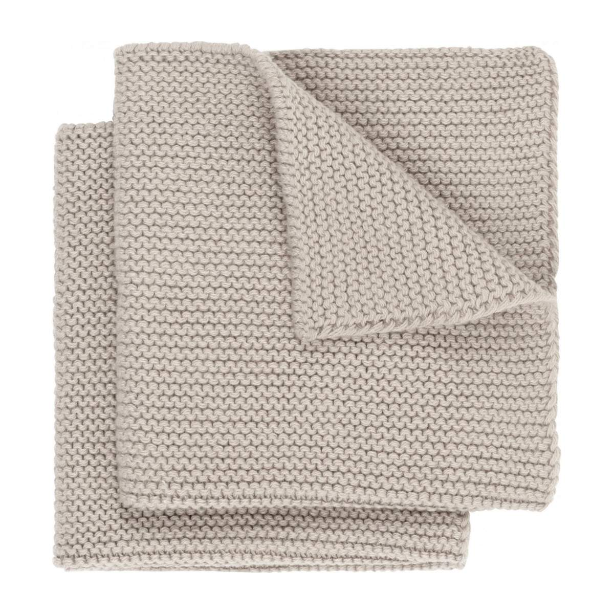 Lot de 2 serviettes de table en coton - 25 x 25 cm - Beige n°1