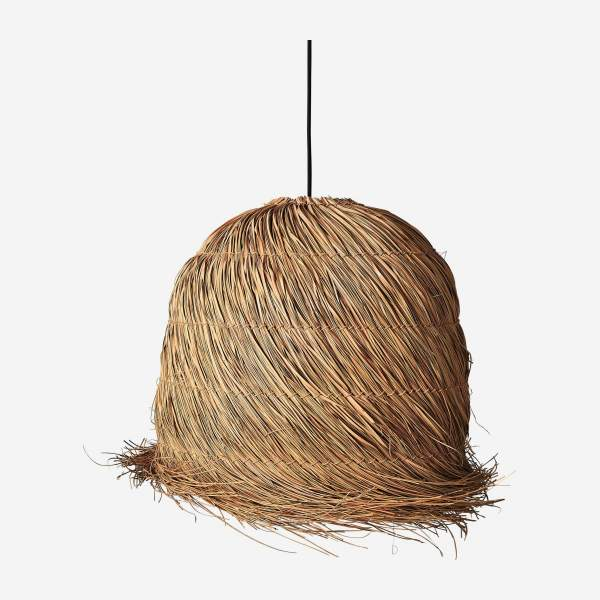 Abat-jour de suspension en fibres de mendong - Naturel - 53 cm