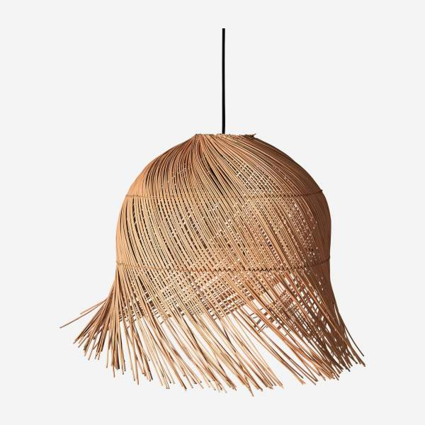 Abat-jour de suspension en rotin - Naturel - 55 cm