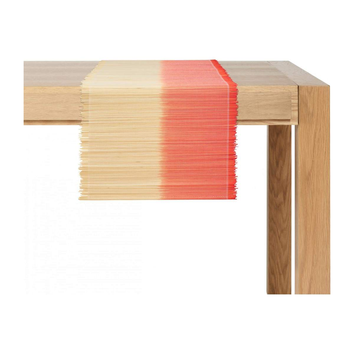 Travers de table en bambou - 40 x 150 cm - Rouge et naturel n°2