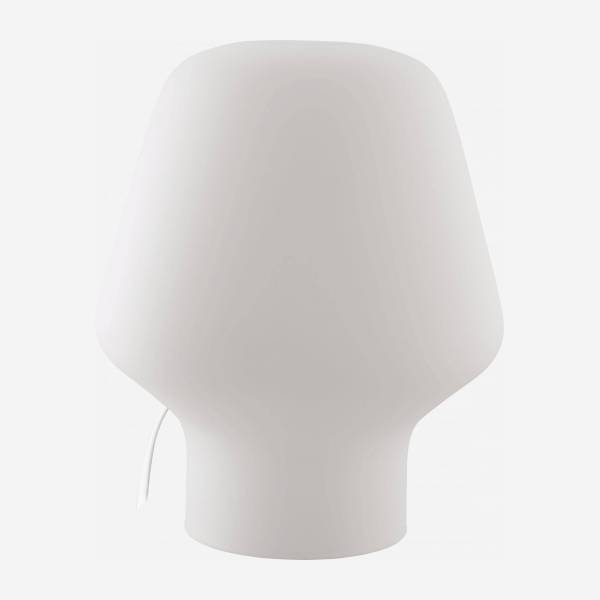 Small frosted glass table lamp