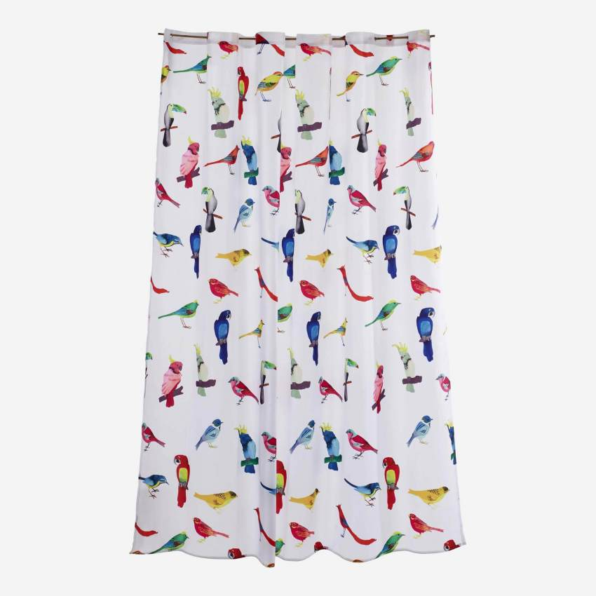 Shower curtain with birds