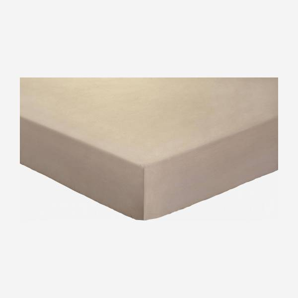 Top sheet 270 x 290 cm, taupe