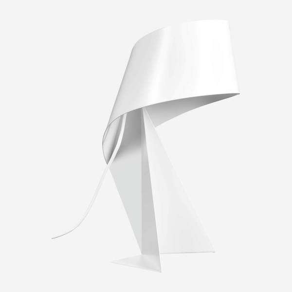 Lampe de table en métal - Blanc - 36 cm