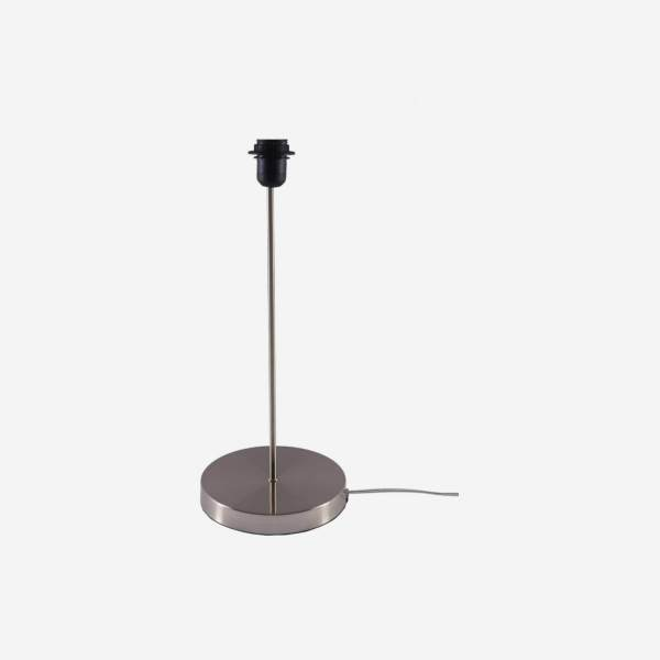 Lamp stand 39.5cm silver brushed metal