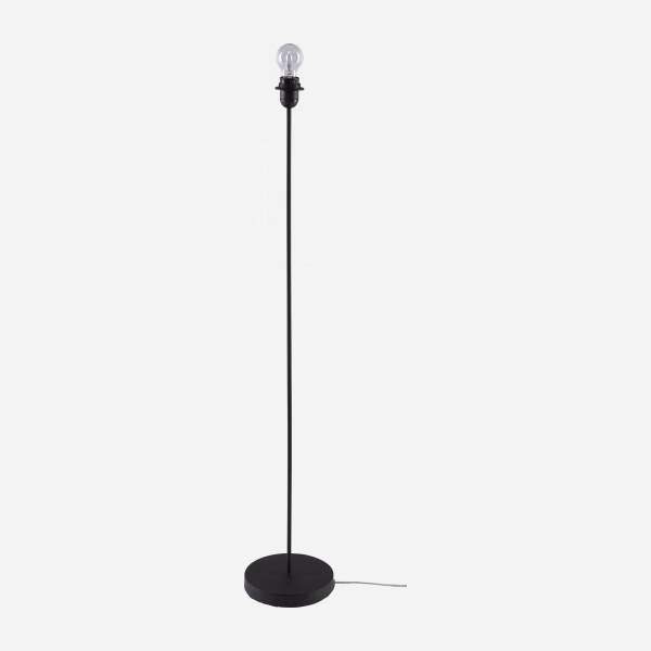 Metal floor lamp base - 130 cm - Black