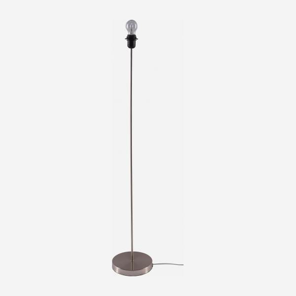 Brushed metal floor lamp base - 130 cm - Silver