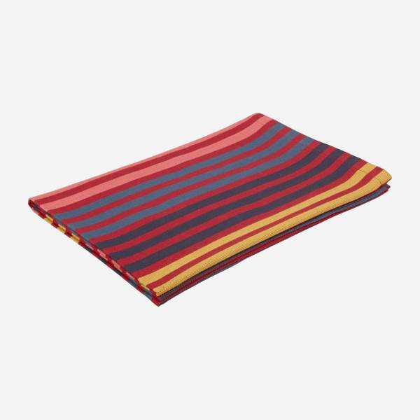 Set of 3 tea towels - 30 x 45 cm - Red stripes