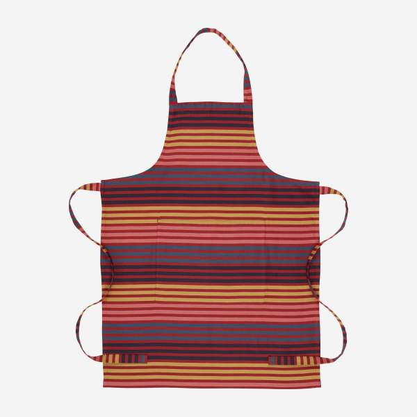 Fabric apron - red stripes
