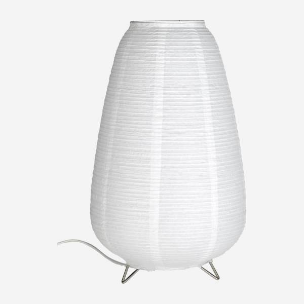 Lampe de table 37cm en papier blanc