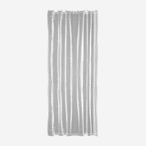 Shower curtain with optical effect
