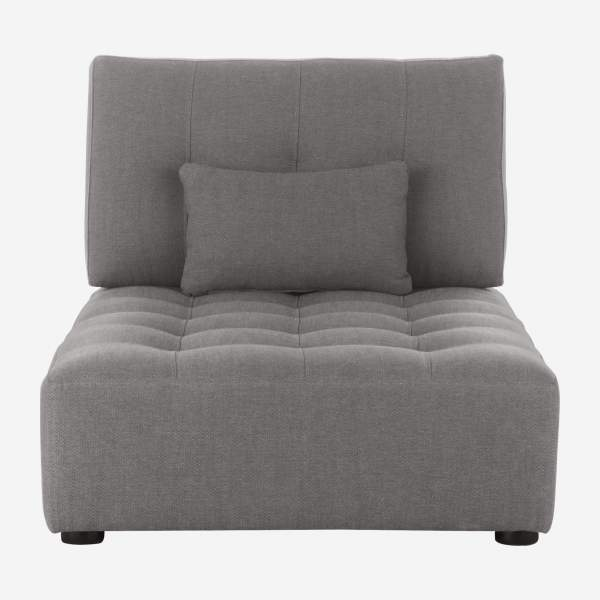 Chaiselongue de tela-gris ratón