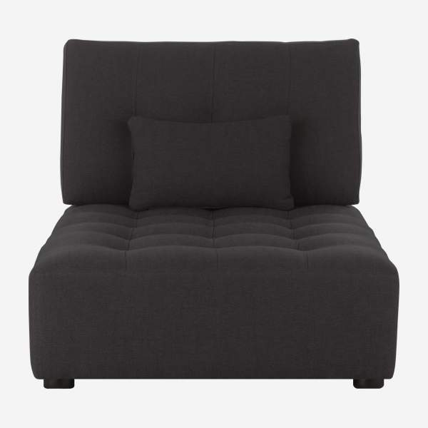 Chaiselongue de tela- gris antracita