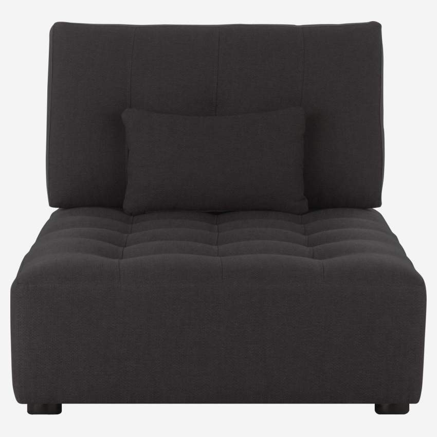 Chaiselongue aus Stoff - Anthrazitgrau