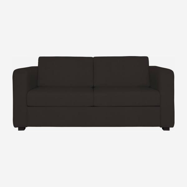 Leather sofa bed.