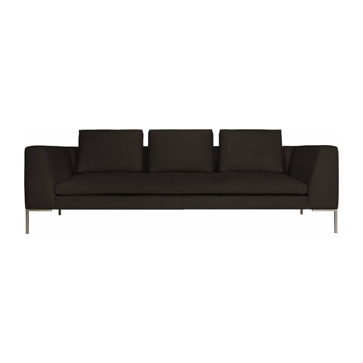 3 seater sofa in Eton veined leather, brown n°1