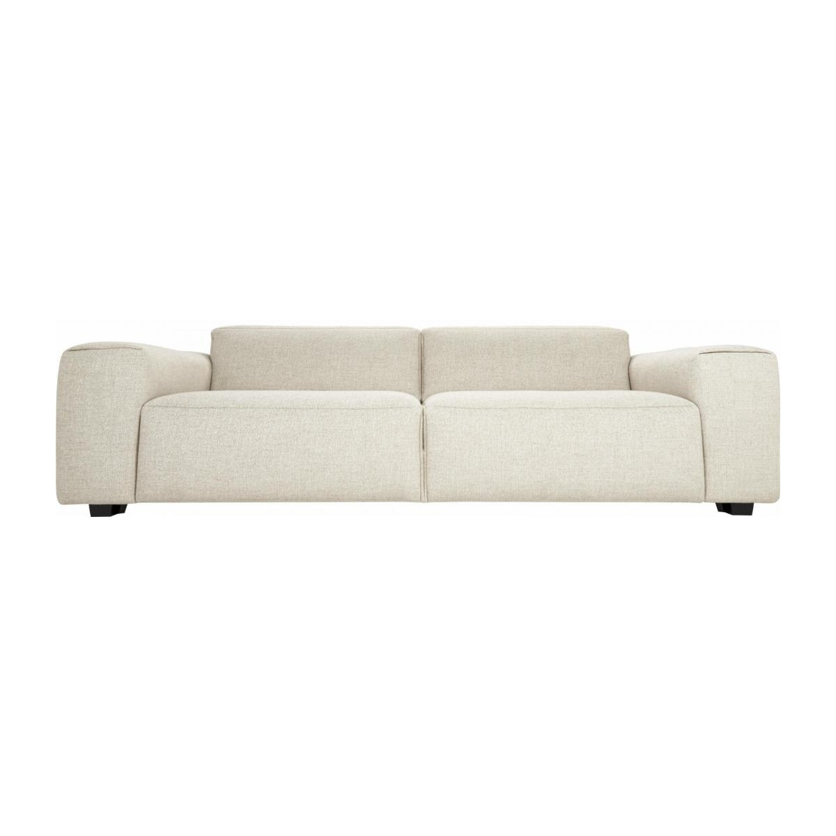 4 seater sofa in Lecce fabric, nature n°1