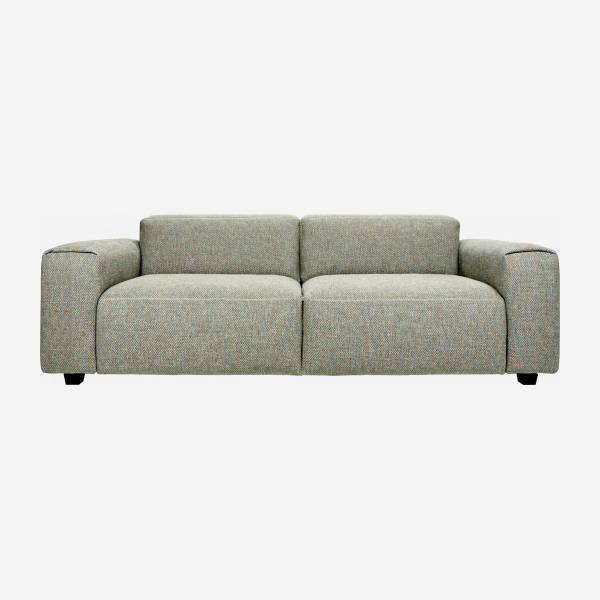 3 seater sofa in Bellagio fabric, organic green