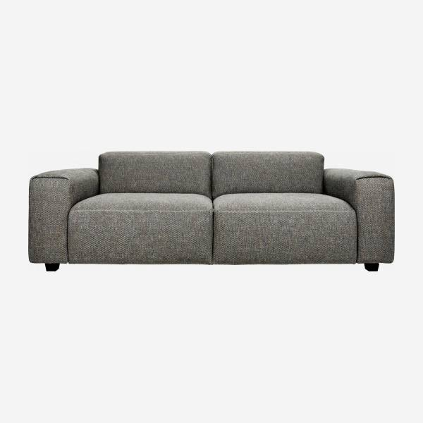 3-Sitzer Sofa aus Stoff Bellagio night black