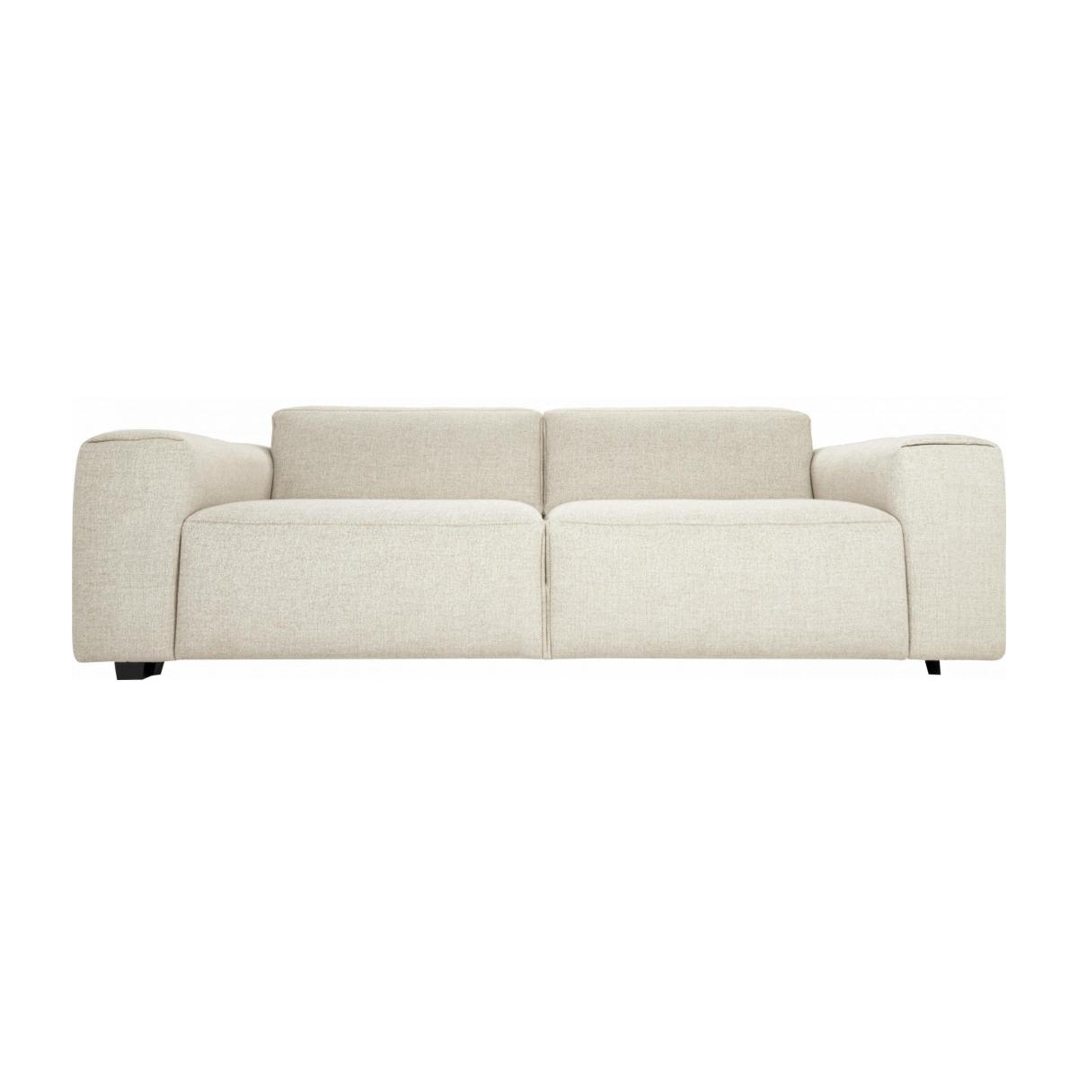 3 seater sofa in Lecce fabric, nature n°1