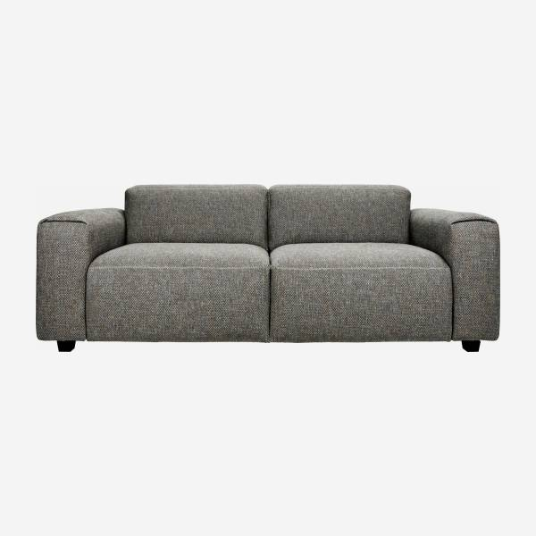 2-Sitzer Sofa aus Stoff Bellagio night black