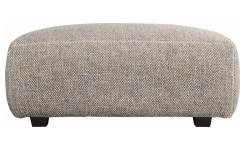 Footstool in Bellagio fabric, night black