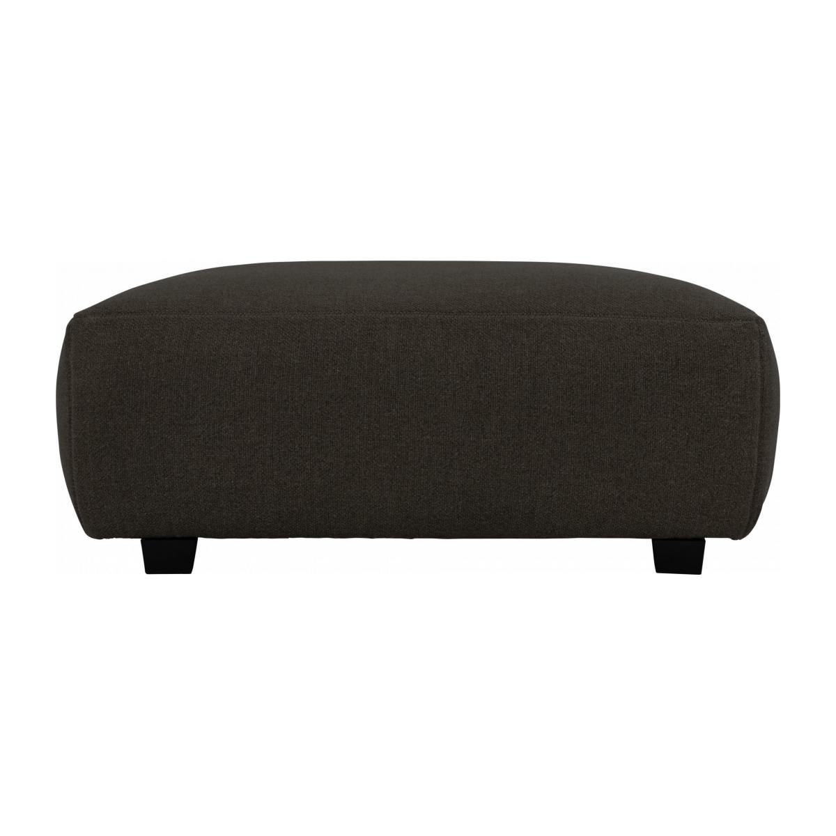 Footstool in Lecce fabric, muscat n°1