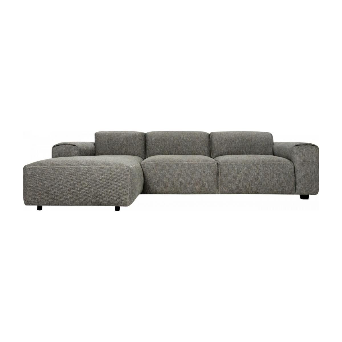 3-Sitzer Sofa mit Chaiselongue links aus Stoff Bellagio night black n°1