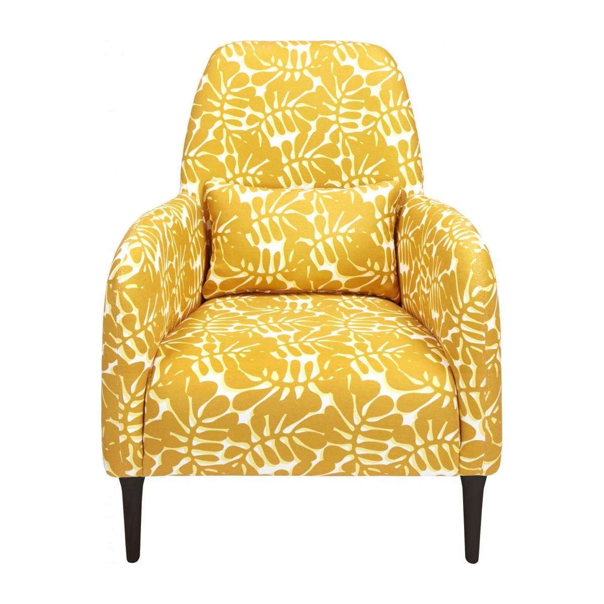 Armchair with yellow patterns n°1