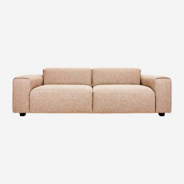 4-seater sofa in Bellagio fabric, passion orange