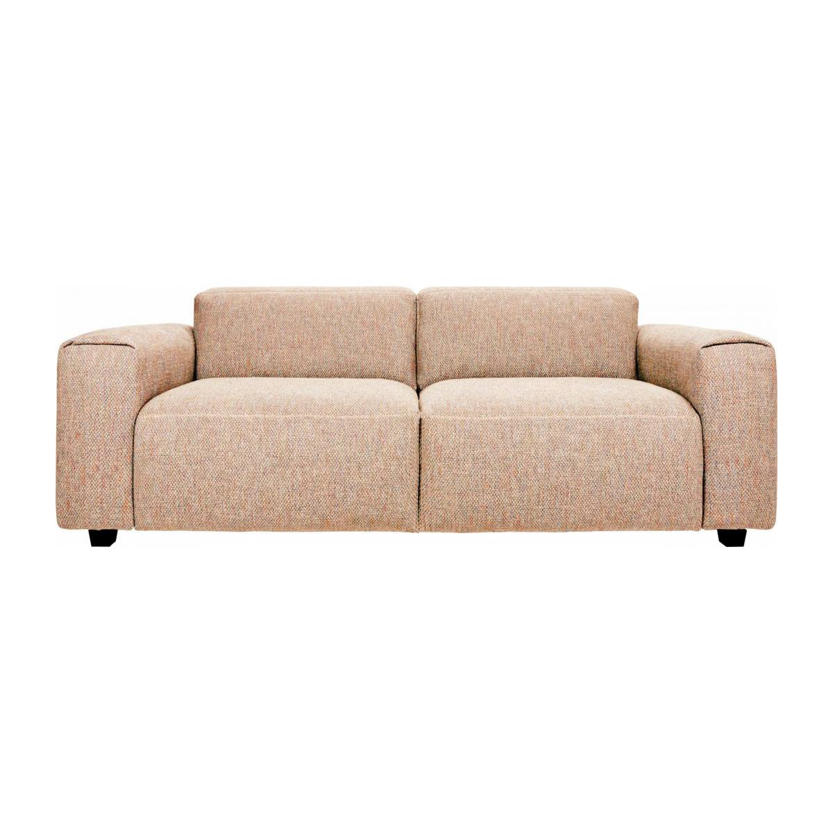 2-seater sofa in Bellagio fabric, passion orange n°1