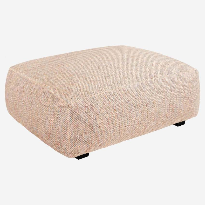 Footstool in Bellagio fabric, passion orange