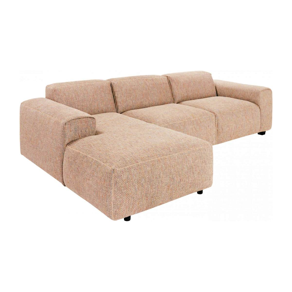 3-Sitzer Sofa mit Chaiselongue links aus Bellagio-Stoff - Orange n°4