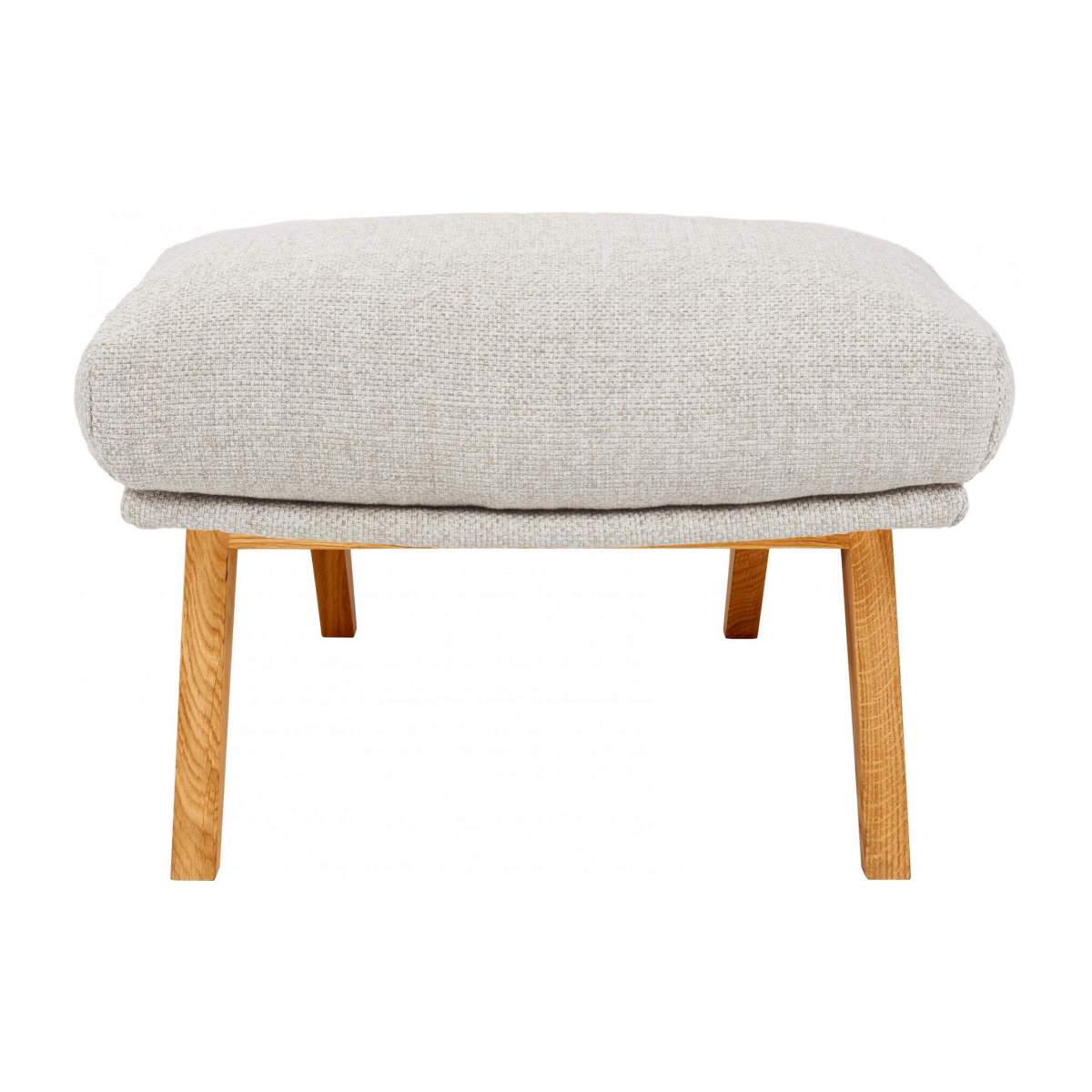 Footstool in Lecce fabric, nature with oak legs n°1
