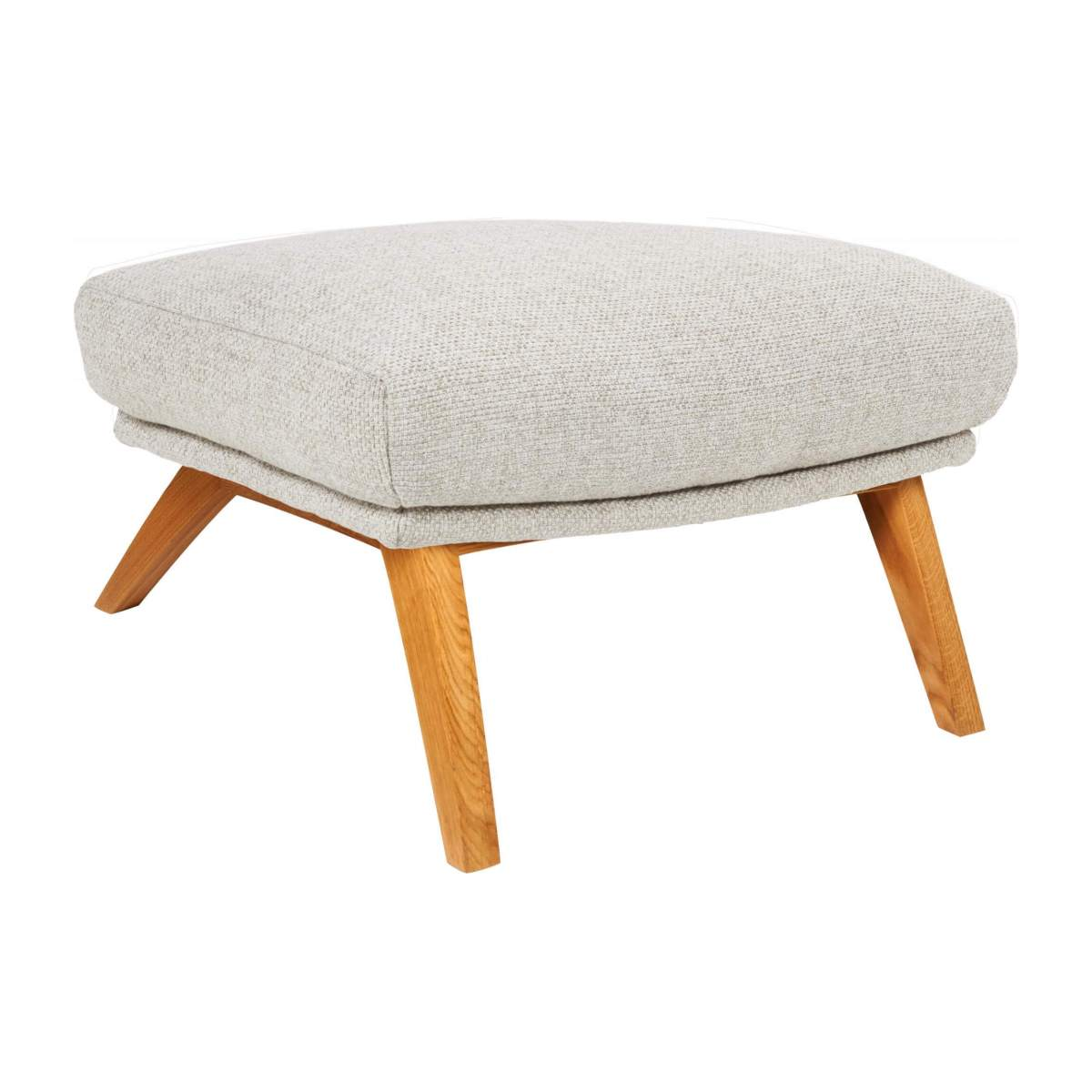 Footstool in Lecce fabric, nature with oak legs n°4