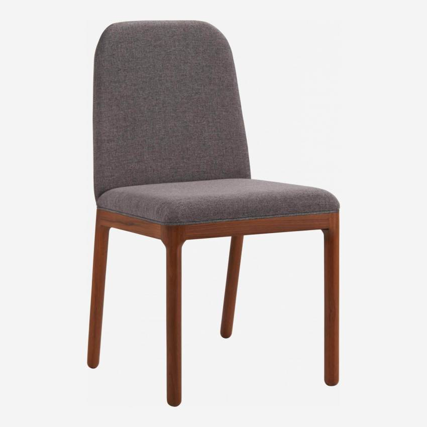 Chair made of fabric, grey with ash legs
