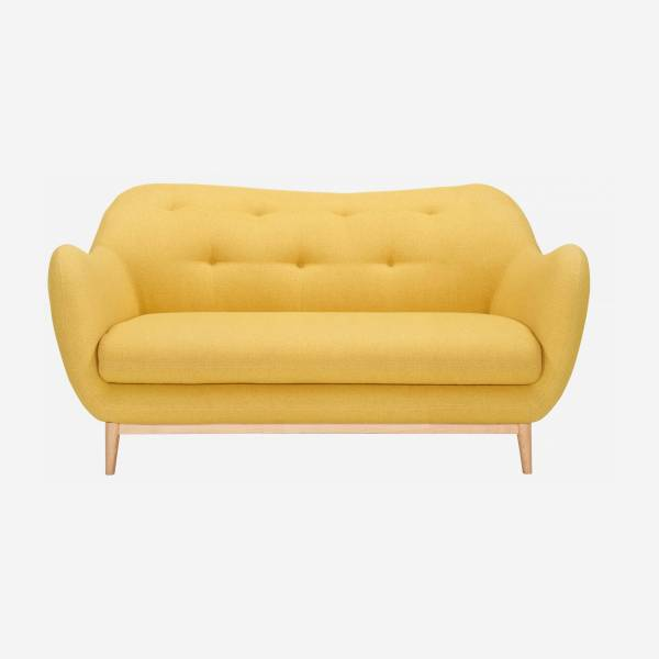 2-seat sofa, yellow