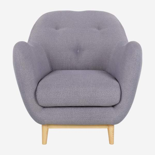 Armchair made of fabric, grey