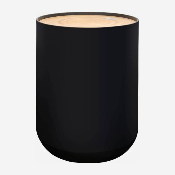 Black bamboo side table 40cm