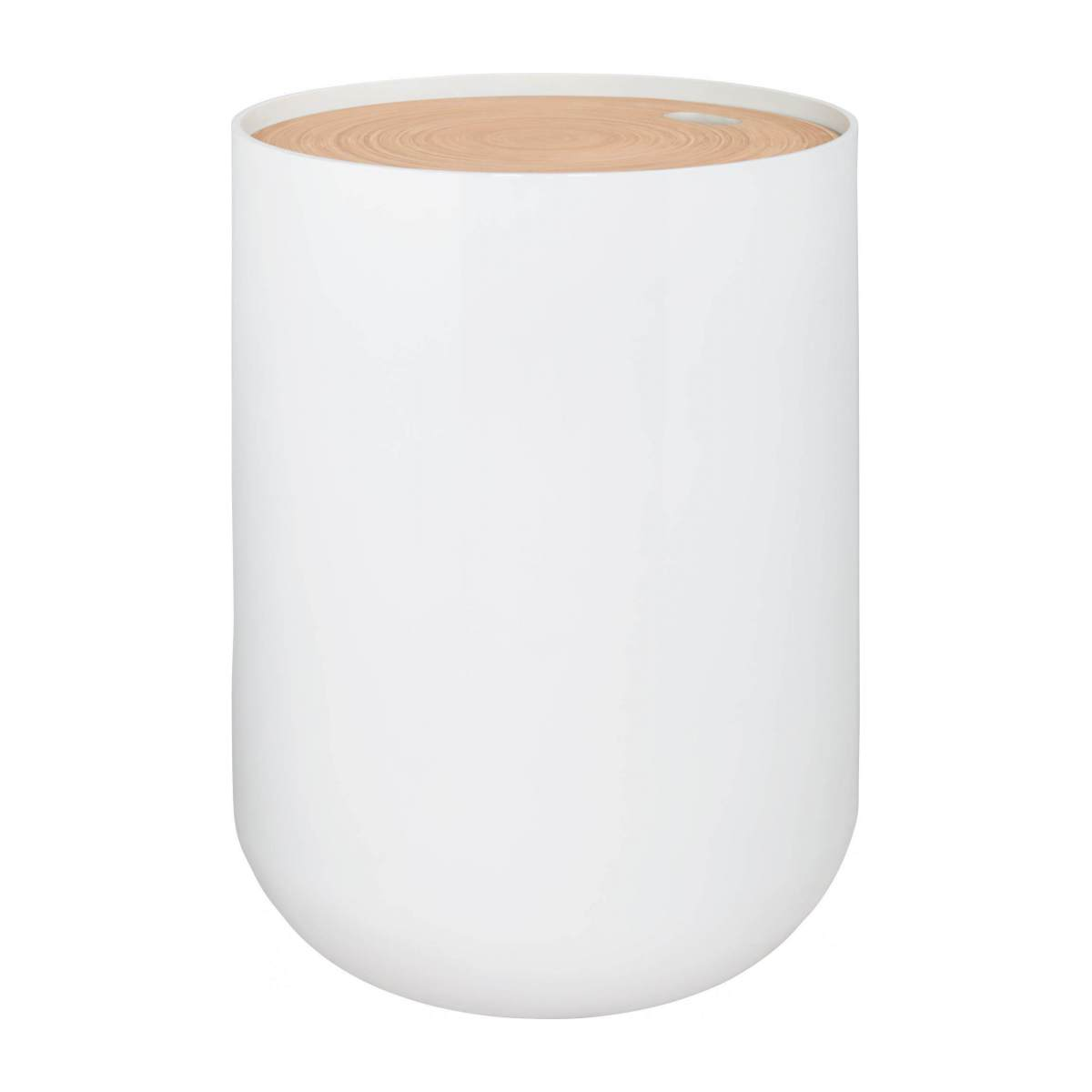 White bamboo side table 40cm n°4