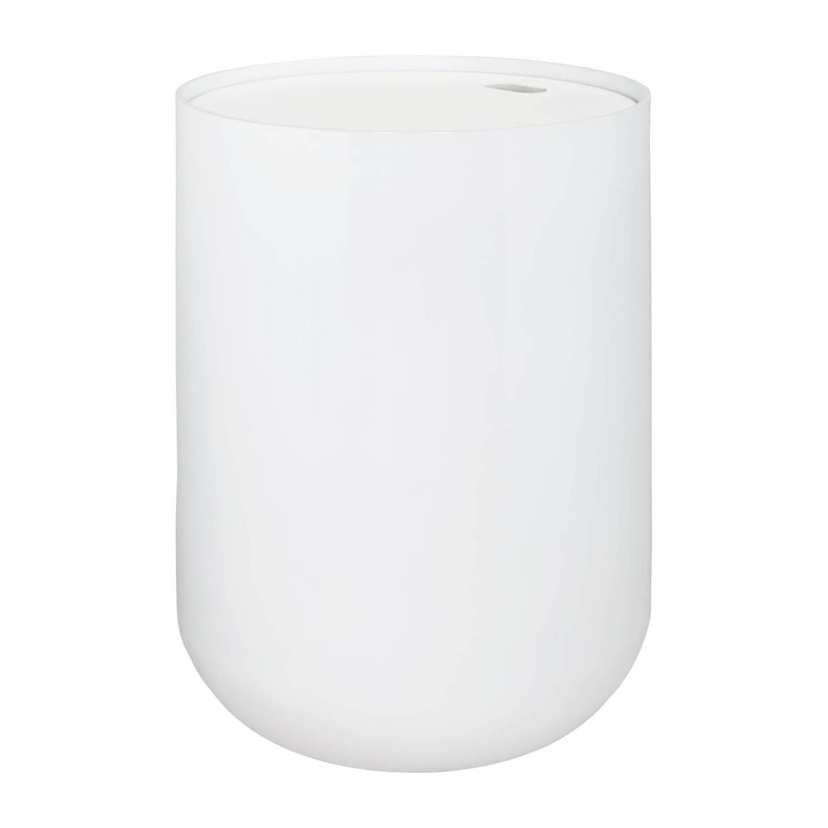 White bamboo side table 40cm n°3
