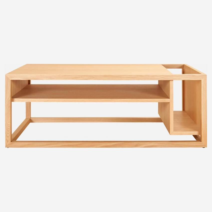 Low table with oak bar