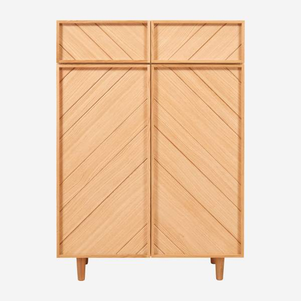 2 doors oak storage