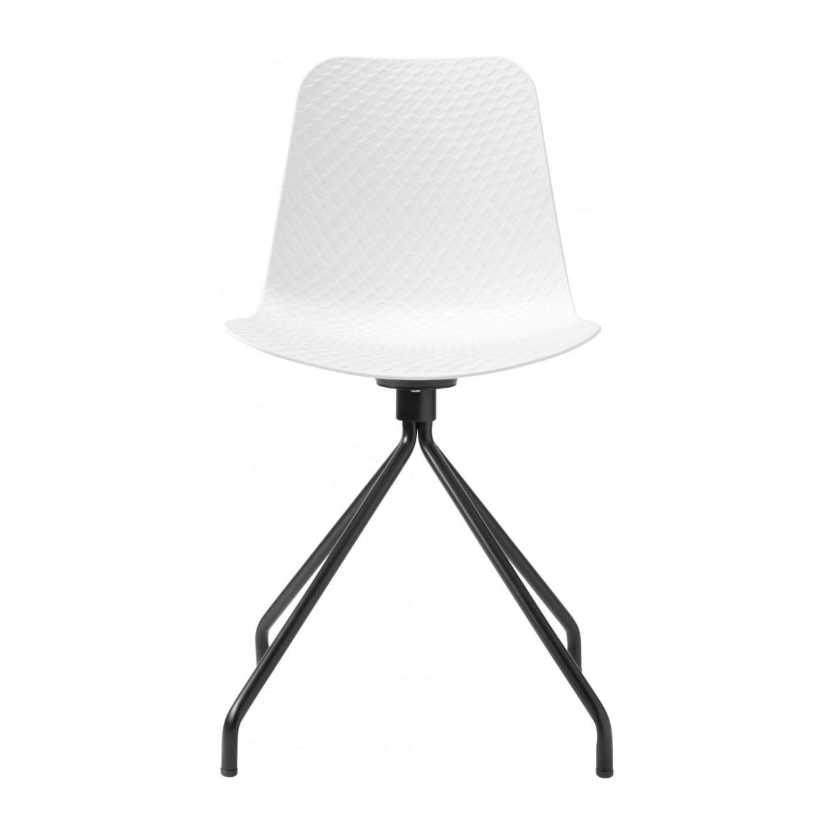 White chair in polypropylene and lacquered steel legs n°1